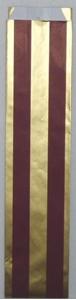 Afbeelding van Ds à 250 fleszak smal 9,5x7x42 cm rood met zilveren sterren