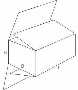 Picture of Am doos 22,5x17,5x19,5 cm. M3024 (uc)