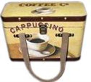 Afbeelding van Houten koffer  34x11x24 cm Coffee