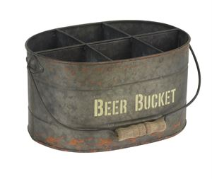 Picture of Metalen draagbak Beer bucket  6 vaks