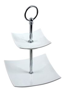 Afbeelding van Etagère 5 laags 170 cm hoog van geborsteld aluminium
