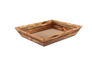 Picture of Doos à 25 kartonnen bak Vintage hout 36,5x22x5,5 cm