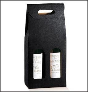 Bild von Draagkarton 2 fles zwart 18x9x38,5 cm
