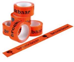 Picture of Rol tape 5 cm/66 mtr pvc breekbaar-fragile