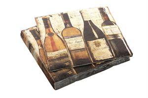 Afbeelding van Pak à 20 servet 33x33 cm  Vintage flessen (uc)