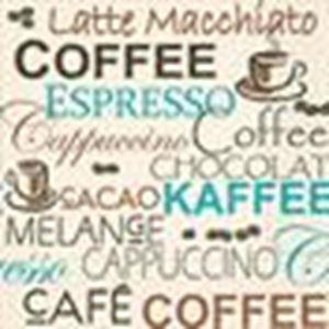 Afbeelding van Pak à 20 servet 33x33 cm Koffie keuze (ucl)