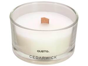 Picture of Geurkaars 8,8x5 cm Cedarwick wit (ucl)