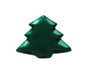 Afbeelding van Schaal kunststof  21x19 cm Kerstboom groen