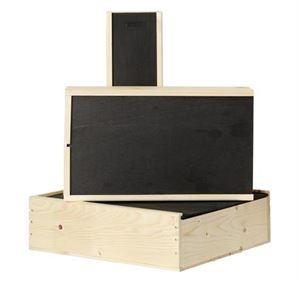 Afbeelding van Kist met houten schuifdeksel, 2 fles