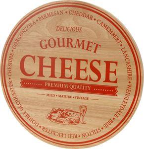 Afbeelding van Kaasplank rubberwood rond 30x1,5 cm Cheese