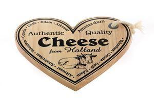 Afbeelding van Kaasplank 25x22 cm Hart From Holland