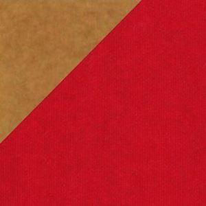 Bild von Rol kadopapier 50 cm/250 mtr rood/ bruin Kraft (uc)