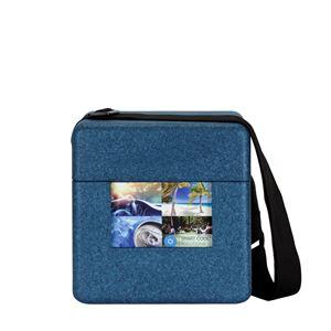 Picture of Beercooler blauw 26x18x27 cm met riem