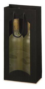 Afbeelding van Pak à 20 2-fles draagtas open golf + venster zwart