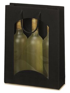 Afbeelding van Pak à 20 3 fles draagtas open golf + venster zwart