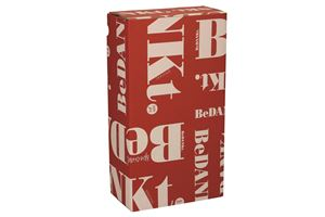 Afbeelding van Geschenkdoos 2 fles Bedankt rood 33,5x18,7x9,5 cm