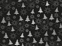 Afbeelding van Kerst-Papier 50cm/100m  denneboom zwart/zilver