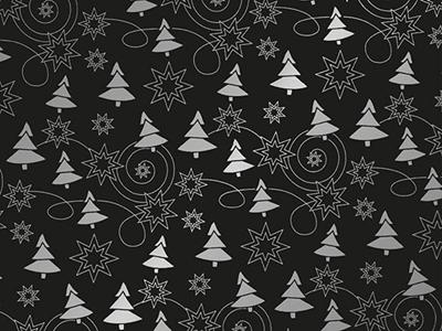 Picture of Rol Kerstpapier 50 cm/100 mtr  denneboom zwart/zilver