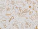 Afbeelding van Rol Kerst-Papier 50cm/100m kerst tekeningen wit op bruin