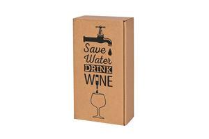 Afbeelding van Ds à 25 geschenkdoos 2 fles Save water  36x18x9 cm