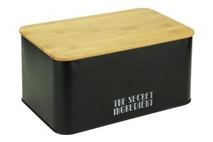 Afbeelding van Broodtrommel 32x21x16 cm zwart Secret Ingredient