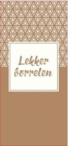 Picture of Ds à 150 papieren tas 18+8x39 cm Lekker borrelen