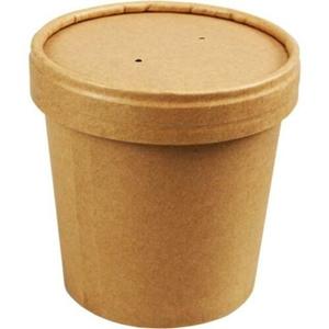 Bild von Ds à 500 kraft food/soep container 12oz 350ml 97mm Ø x 75mm
