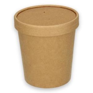 Bild von Ds à 500 kraft food/soep container 16oz 470ml 97mm Ø x 100mm