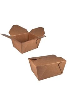 Picture of Ds à 200 bruinkraft/pe coated 800ml lunchbox 13,2x10,4x6,4 cm