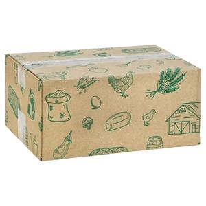 Picture of Pakketdoos 31x22x14 cm Streekproducten groen