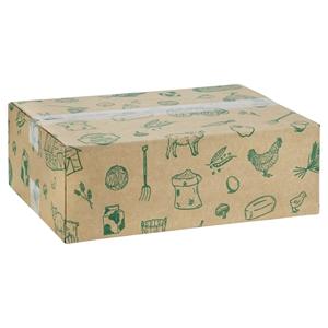 Afbeelding van Pakketdoos 39x29x13 cm Streekproducten groen
