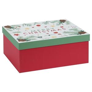 Afbeelding van Luxe doos recht 29,5x23,5x12,3 cm Merry Christmas
