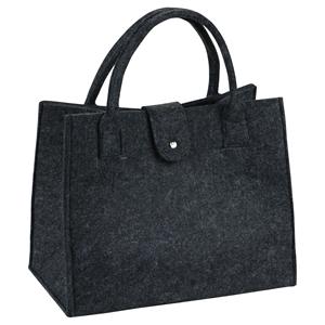 Picture of Vilten tas 35+20x28 cm donker grijs met sluiting