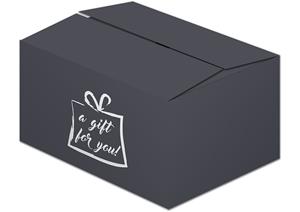 Afbeelding van Pakketdoos A140 a gift for you 31x20x14 cm zwart