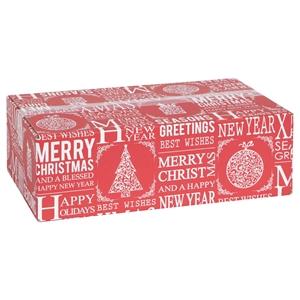 Bild von Kerstdoos F150 Merry xmas rood 49x29x15 cm