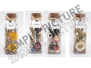 Afbeelding van Potpourri mix in glazen flesje 6,5x6,5x19 cm assorti