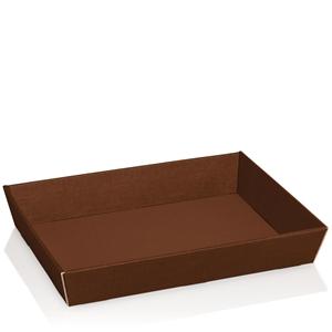 Afbeelding van Ds à 25 kartonnen bak 31,5x22x5,5 cm bruin