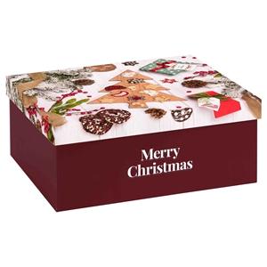 Picture of Luxe doos recht 29,5x23,5x12,3 cm Merry Christmas