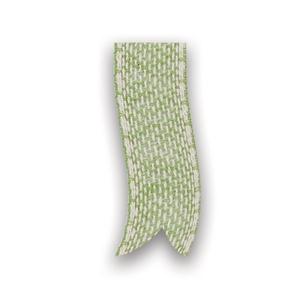 Afbeelding van Rol katoenlint 25 mm 10 mtr appel groen/wit