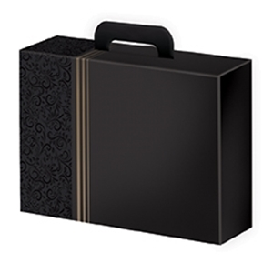 Picture of Pak à 25 kartonnen koffer 32,7x21x11,5 cm Black
